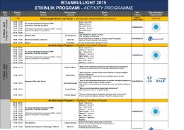 ıstanbullıght 2015 etkinlik programı - actıvıty
