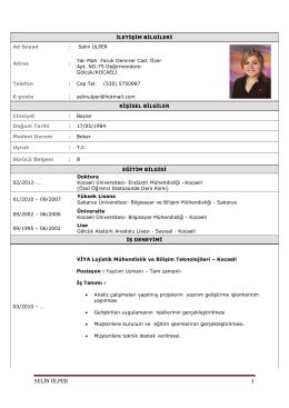 SELİN ÜLPER 1 - Gedik Üniversitesi