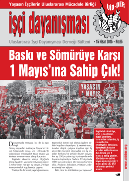 Baskı ve Sömürüye Karşı - Uluslararası İşçi Dayanışması Derneği