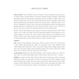 HER GÖLGE TİTRER - Yapı Kredi Kültür Sanat Yayıncılık