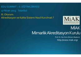 MİAK Başkanı Prof. Dr. Nur Esin