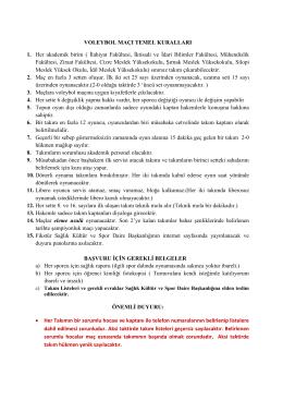 Voleybol Kuralları 2015