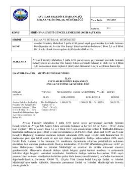 Firuzköy Mahallesi 5 pafta 6194 parsel sayılı gayrimenkul üzerinde