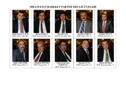 MHP Meclis Üyeleri listesi için tıklayınız