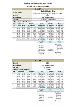 Bağımsız Denetim Geçiş Dönemi Eğitimleri 29/04/2015