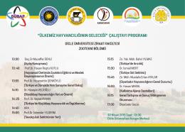 Çalıştay Programı - Dicle Üniversitesi