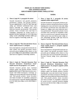 YANLIfi 1- Ünite 4, Sayfa 59, 2. paragraf›n ilk cümlesi Güvenlik
