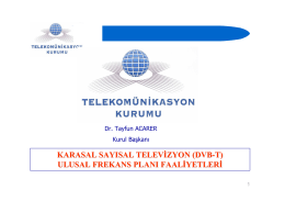 KARASAL SAYISAL TELEVİZYON (DVB