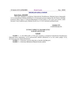 Karar Sayısı: 2014/6400