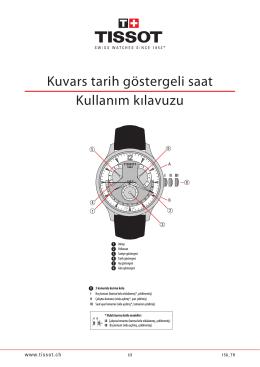 Kuvars tarih göstergeli saat Kullanım kılavuzu