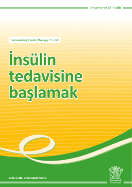 Commencing Insulin Therapy: Turkish