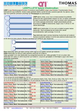 LEEP/LLETZ İşlemi Elektrodları