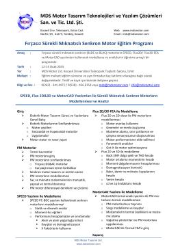 MDS Motor Eğitim Programı