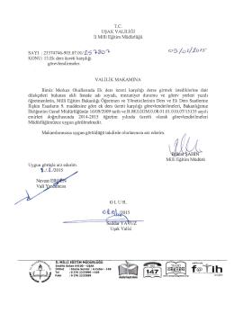 13 Ek ders karşılığı görevlendirmeler 09.01.2015 17:08