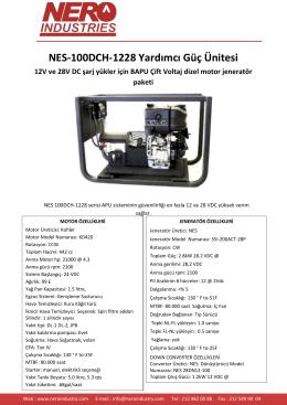 NES-100DCH-1228 Yardımcı Güç Ünitesi