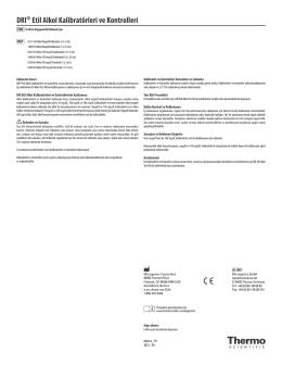 DRI® Etil Alkol Kalibratörleri ve Kontrolleri