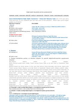 İhale Kayıt Numarası : 2014/104856 a) Adresi : Adalet Mh.100. Yıl