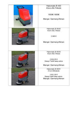 Hakomatic B 430 43cm-25LT/Akülü 1500€