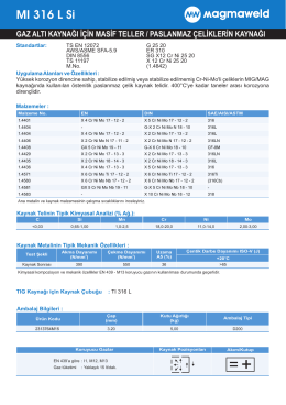MI 316 L Si - Oerlikon Kaynak