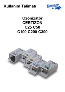 Kullanım Talimatı Ozonizatör CERTIZON C25 C50 - Aqua