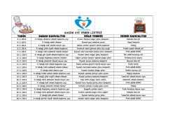 kasım ayı yemek listesi
