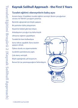 Tuvalet Eğitimi Broşürü 2 (K aynak S olihull A pproach)
