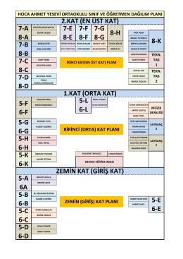 5-D 6-D 5-K 6-K ZEMİN KAT (GİRİŞ KAT) 5-A 6A 5-B 6-B 5-E 6