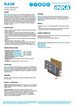 Ürün Teknik Broşürü