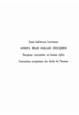 avrupa insan hakları sözleşmesi