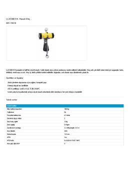 LLA1000 EX: Havalı Vinç