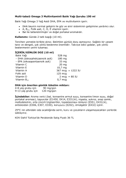 Multi-tabs® Omega 3 Multivitaminli Balık Yağı Şurubu 190 ml