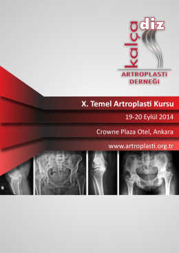 X. Temel Artroplas Kursu