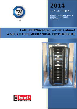 LANDE DYNAcenter Server Cabinet W600 X D1000 MECHANICAL