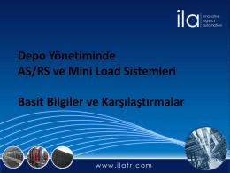 Depo Yönetiminde AS/RS ve Mini Load Sistemleri Basit