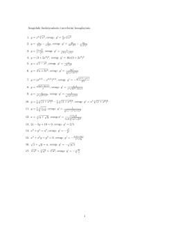 Asagidaki fonksiyonlarin turevlerini hesaplayiniz. 1. y = x / x2, cevap