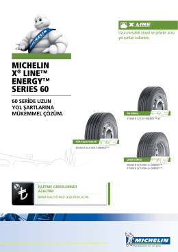 MICHELIN X® LINE™ ENErgy™ SErIES 60