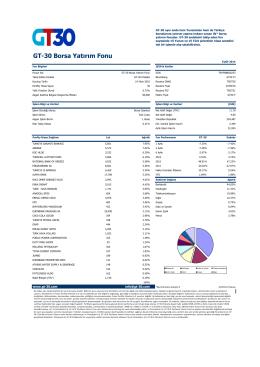 GT-30 Borsa Yatırım Fonu
