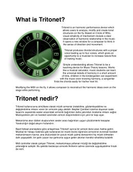 What is Tritonet? - Kocaeli Üniversitesi