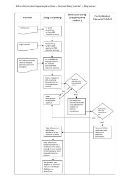 Personel Maaş İşlemleri İş Akış Şeması Personel Maaş Mutemetliği