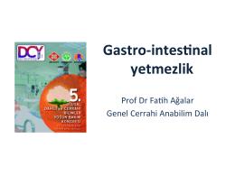 İntestİnal Yetmezlİk - Prof. Dr. Fatih Ağalar