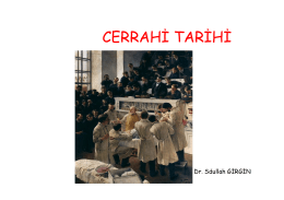 CERRAHİ TARİHİ
