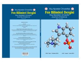 Fen Bilimleri Dergisi - Muş Alparslan Üniversitesi