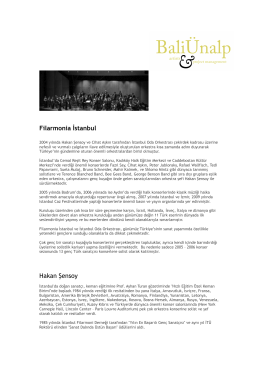 Filarmonia İstanbul biyografi
