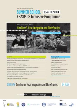 ERASMUS Intensive Programme SUMMER SCHOOL 13-27