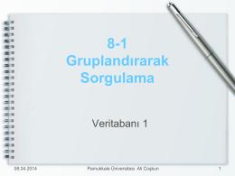 1 Temel Kavramlar - Pamukkale Üniversitesi