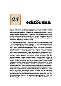 editörden editörden - Alternatif Politika