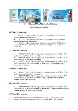 2014 CEZA ve İNFAZ Kurumları Eğitimleri