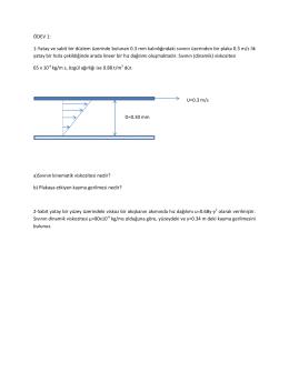 ÖDEV 1: 1-Yatay ve sabit bir düzlem üzerinde bulunan 0.3 mm