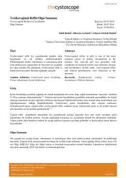 Vezikovajinal Reflü:Olgu Sunumu - Cystoscope E
