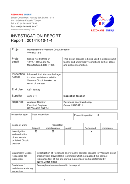 INVESTIGATION REPORT Report : 20141010-1-4